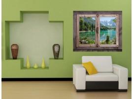 Ambientazione Trompe l'Oeil | Finestra sul lago montano
