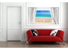 Ambientazione Trompe l'Oeil | Finestra con su Spiaggia Relax