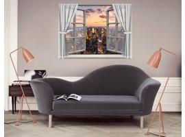 Ambientazione Trompe l'Oeil | Finestra City