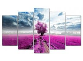 Albero Solitario violet (five tela)