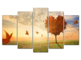 Foglie al vento (five in tela)