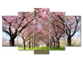 Alberi in fiore (five tela)