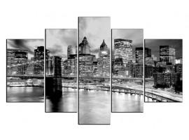 Manhattan black (five in tela)
