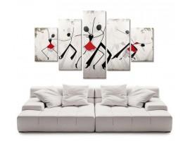 Quadro cinque pannelli Danza