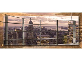 New York Panoramic con cornice | Quadro moderno su tela