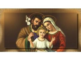 Sacra Famiglia con Giglio | con cornice