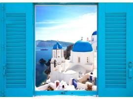 quadro effetto finestra sulla grecia