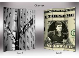 Cinema | Separè paravento divisorio bifacciale