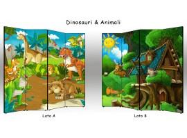 Paravento Dinosauri & Animali