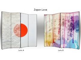 paravento separè bifacciale japan love