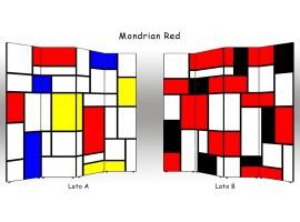 Paravento Mondrian Red