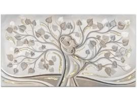 quadro con glitter Abbraccio nell'Albero Oro