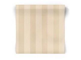 Carta da parati a righe beige, crema, perla