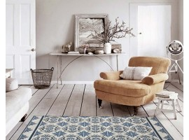 tappeto maiolica azzurro blu