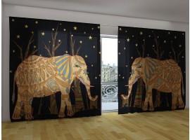 Tenda classica XL - Elefanti Etnici