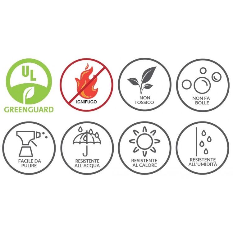 schienale adesivo simboli caratteristiche