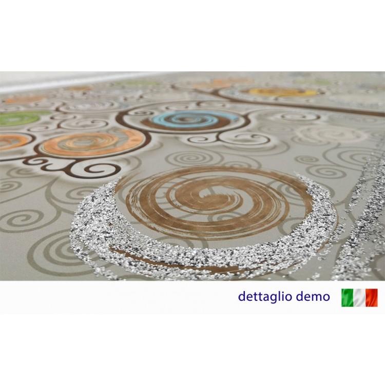 dettaglio quadro con glitter
