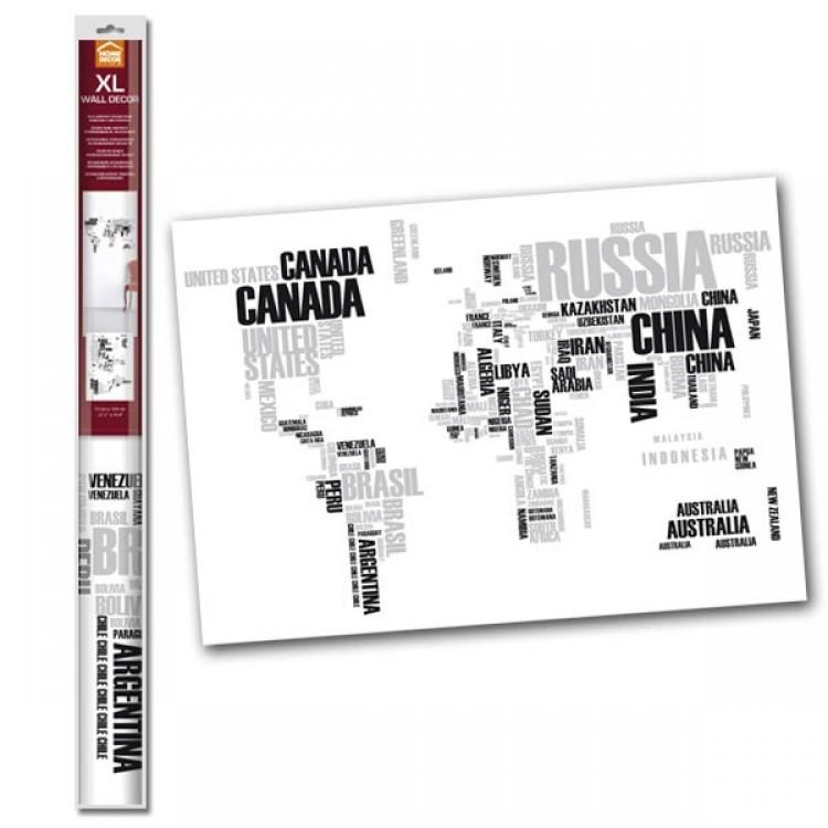 Adesivo murale World Map (confezione)