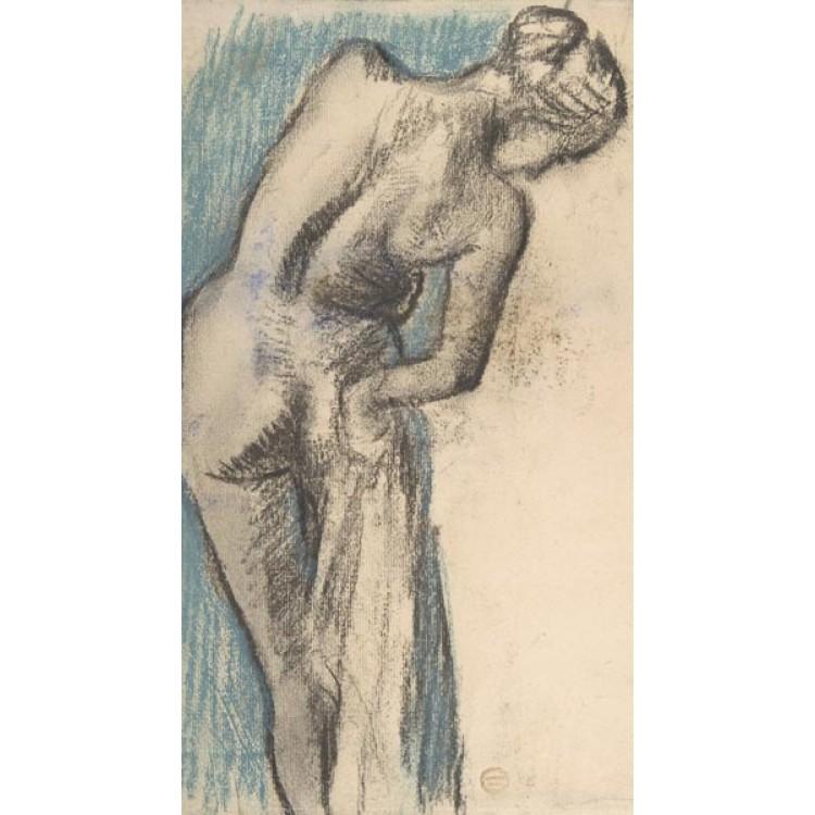 Bagnante di Edgar Degas | Adesivo murale