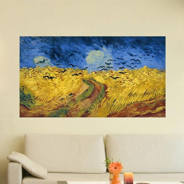 Campo di grano con volo di corvi di van Gogh (ambientazione)