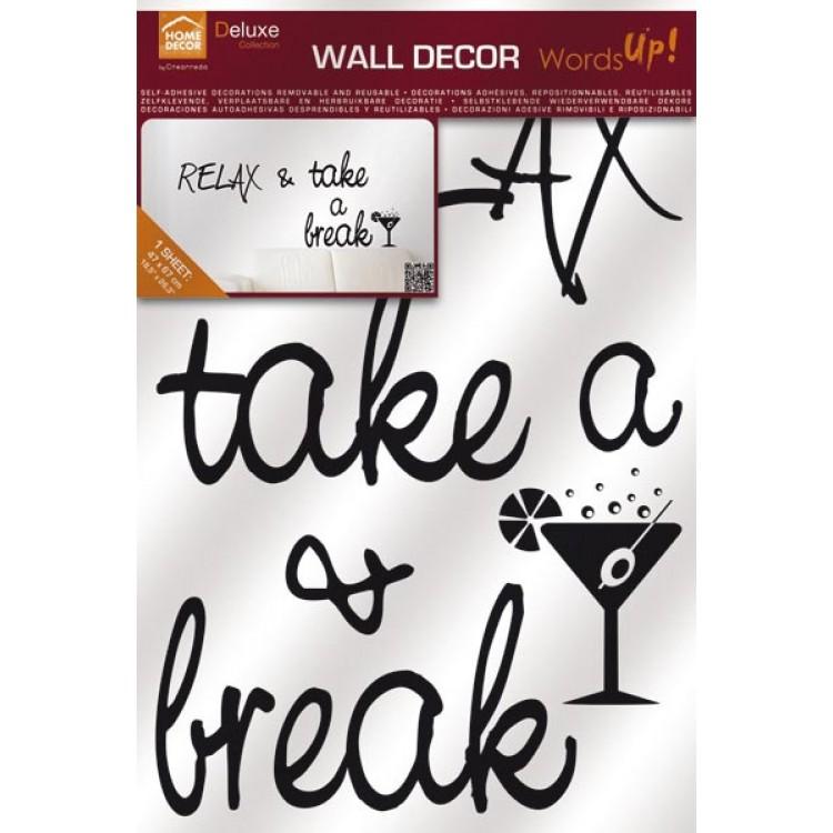 Frase adesiva Relax & take a Break (confezione)