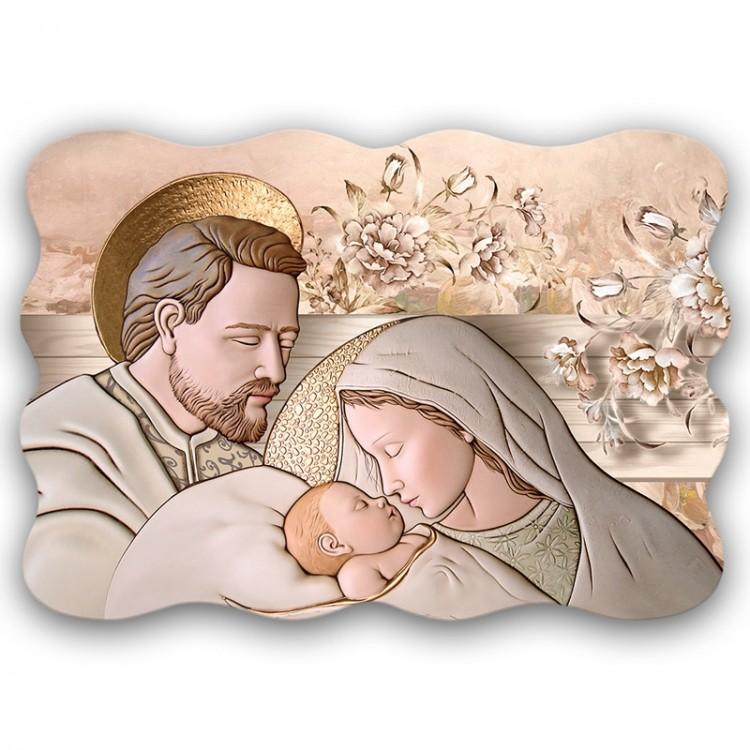 Quadro Sacro - Sacred Family Brown