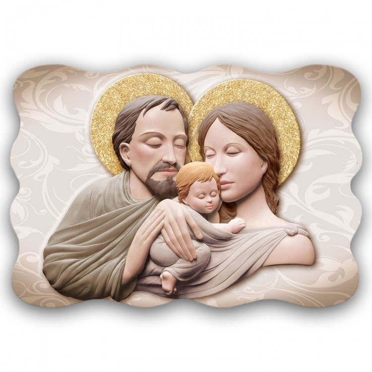 Quadro Sacro - Sacred Family Marble Brown