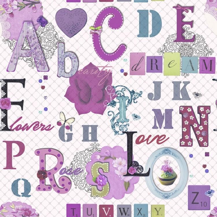 Carta da parati Alphabet