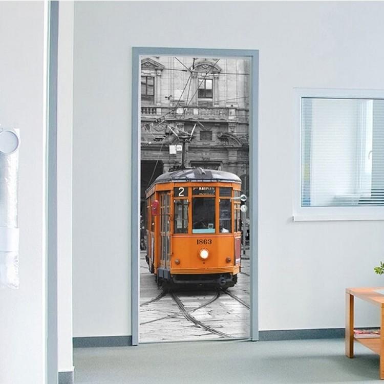 adesivo per porta Tram in Milano