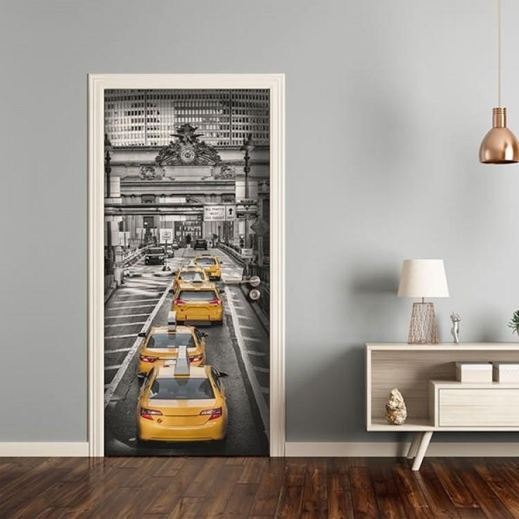 adesivo per porta Taxi in Manhattan