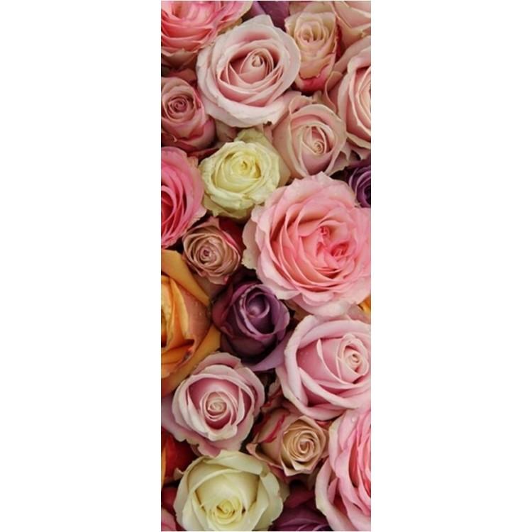 adesivo per porta Rose Colorate
