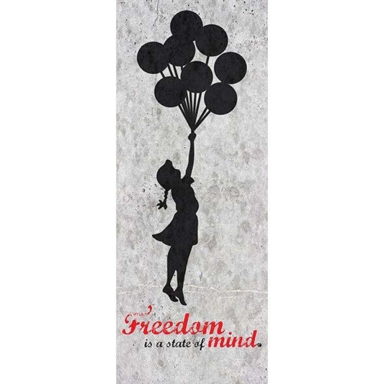 adesivo per porta Freedom di Bansky