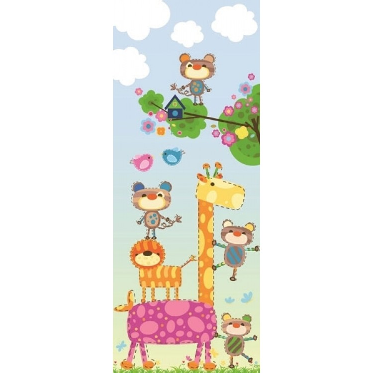 adesivo per porta animali giocosi