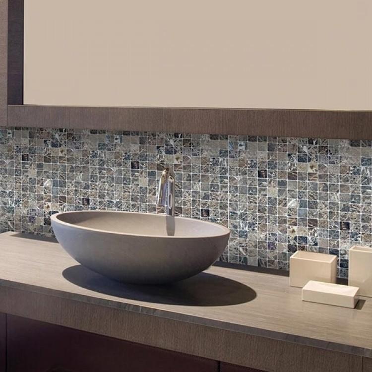 adesivo mosaico marmo