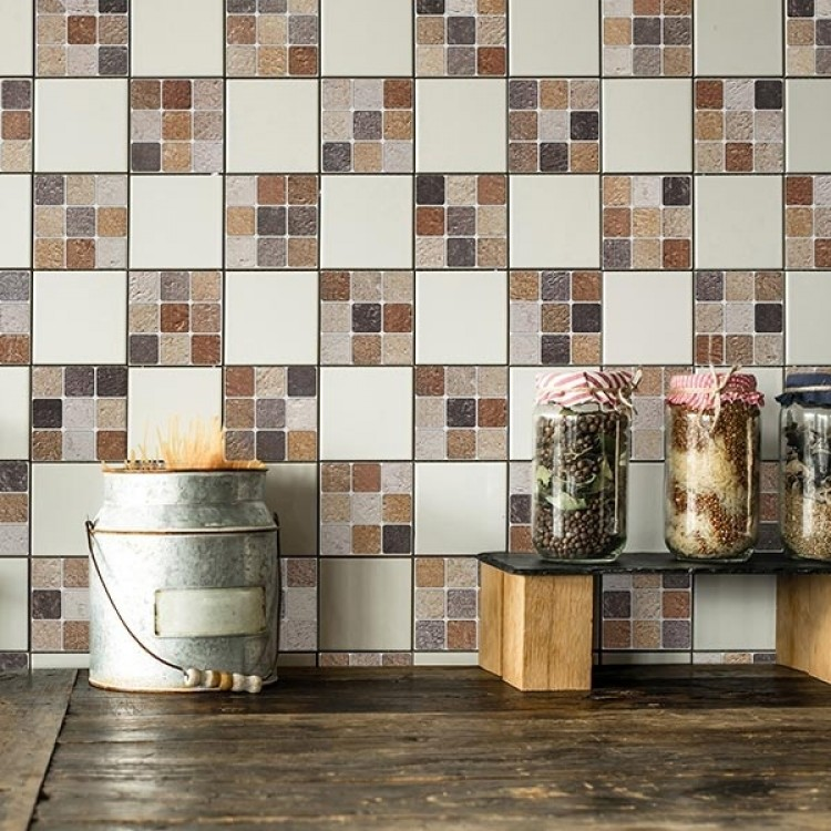 adesivo mosaico terracotta