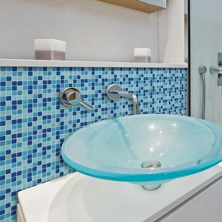 adesivo mosaico azzurro