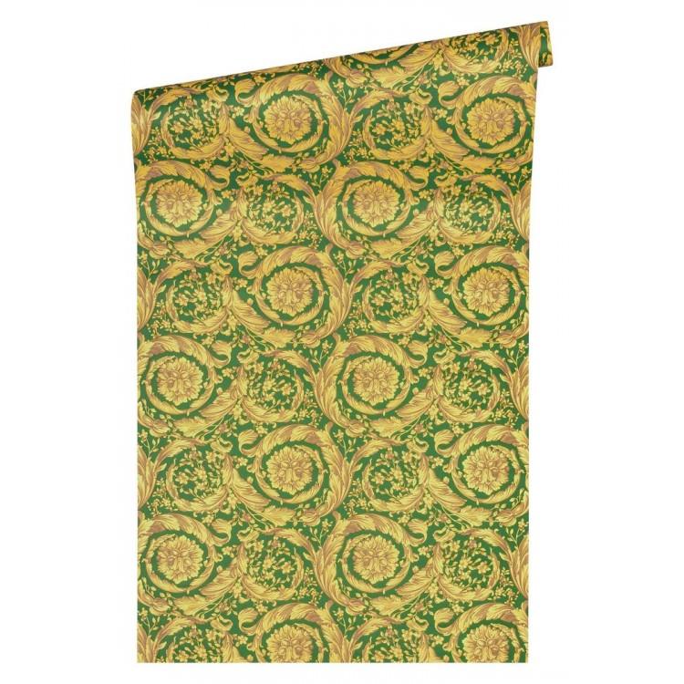 Carta da parati Versace luxury verde giallo