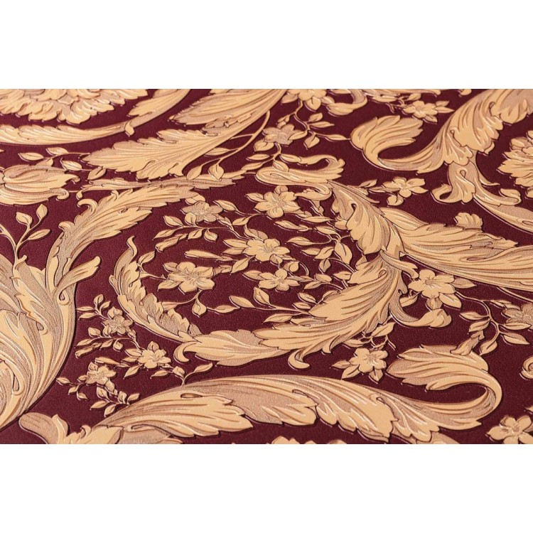 Carta da parati Versace luxury rosso beige