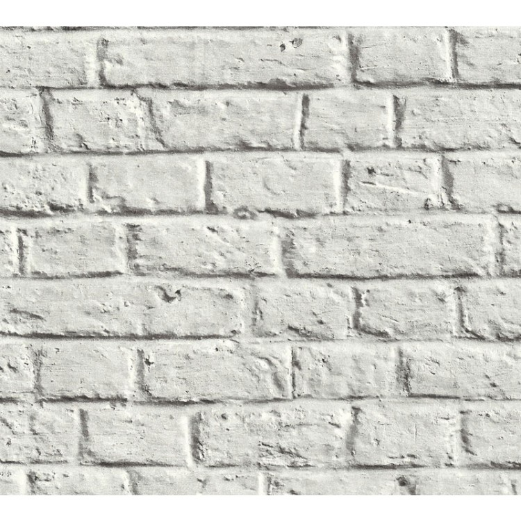Carta da parati mattoni moderni bianchi