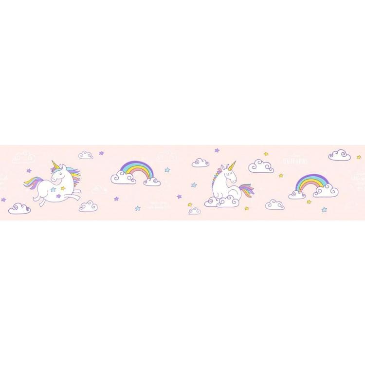 bordo adesivo Unicorni & Arcobaleni