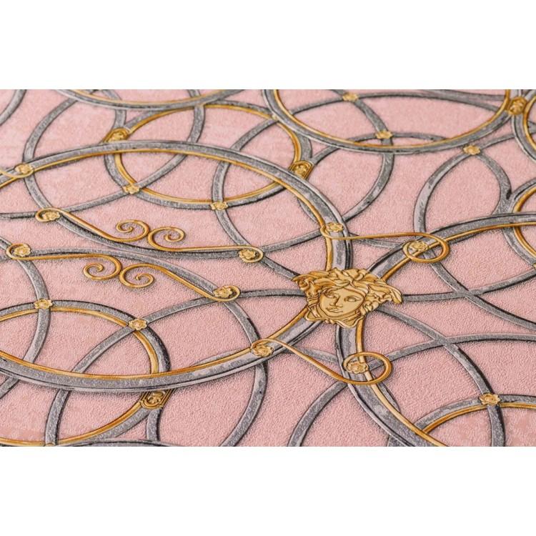 Carta da parati Versace cerchi rosa