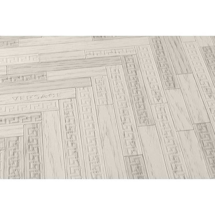 Carta da parati Versace cottage grigio bianco