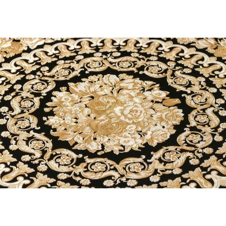 Carta da parati Versace diamanti nero oro