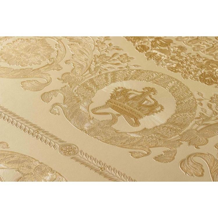 Carta da parati Versace diamanti beige oro