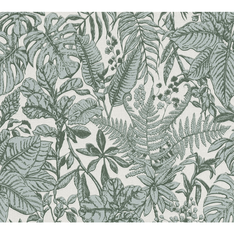 Carta da parati Tropical Elegant verde
