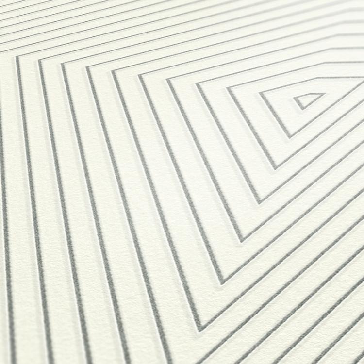 Carta da parati Geometrical bianco