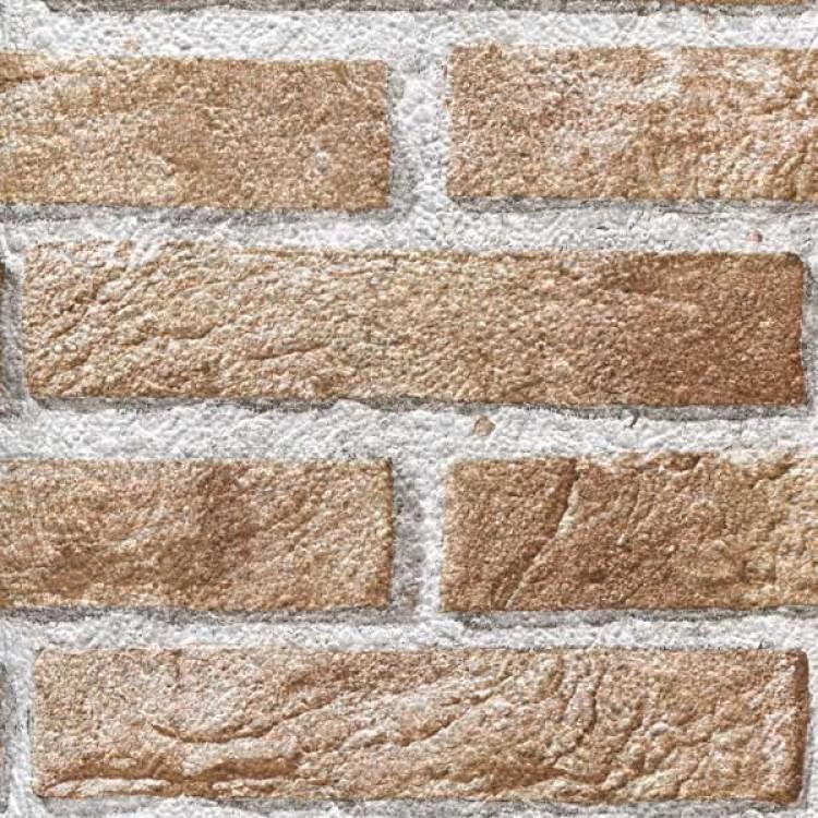 Carta da parati mattoni cortina beige effetto materia for Carta da parati adesiva effetto muro
