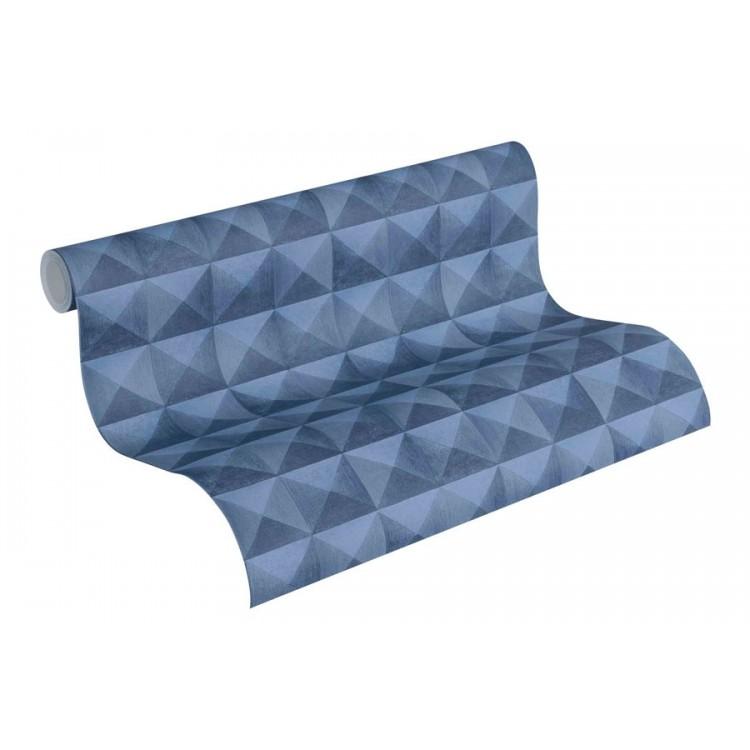 carta da parati Pyramid Illusion Blu