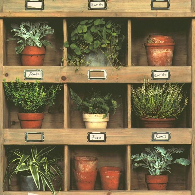 carta da parati armadio & piante