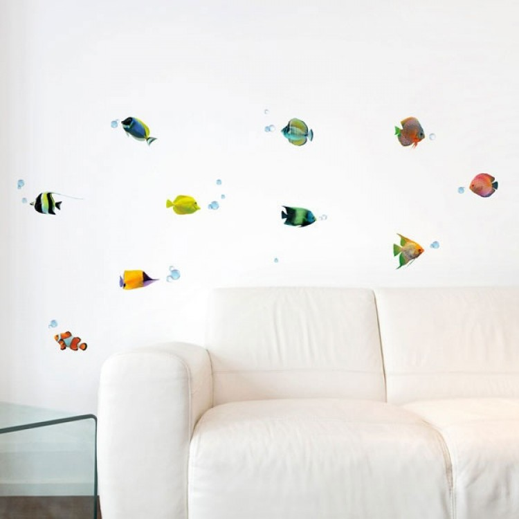 Adesivo murale Pesci Tropicali